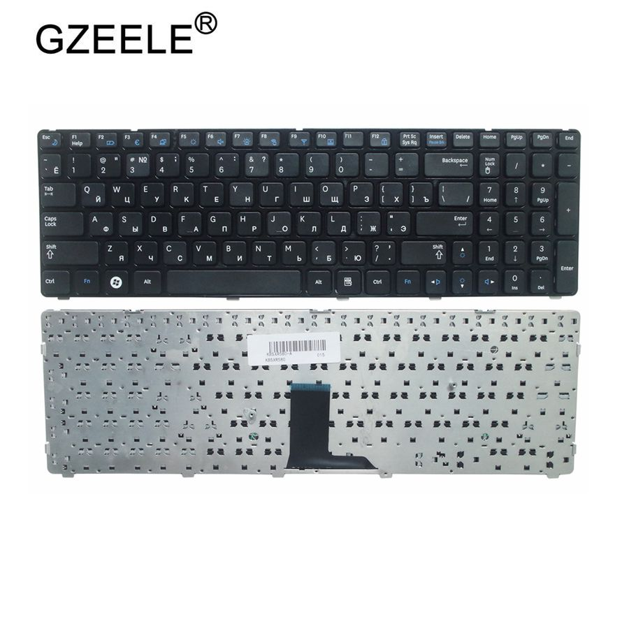 GZEELE Russian Keyboard For Samsung NP-R578 NP-R580 NP-R590 NP-E852 NP R578 R580 R590 E852 NPR578 NPR580 NPR590 NPE852 RU Black
