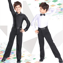 Boys Latin Dance Costumes Top and Pant Childrens National Standard Kids Stipulate Uniforms B-6990