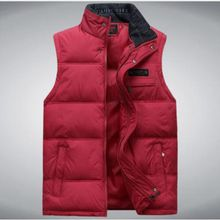 zozowang high quality new autumn winter down cotton vest men thicken plue size stand collar cest black gules