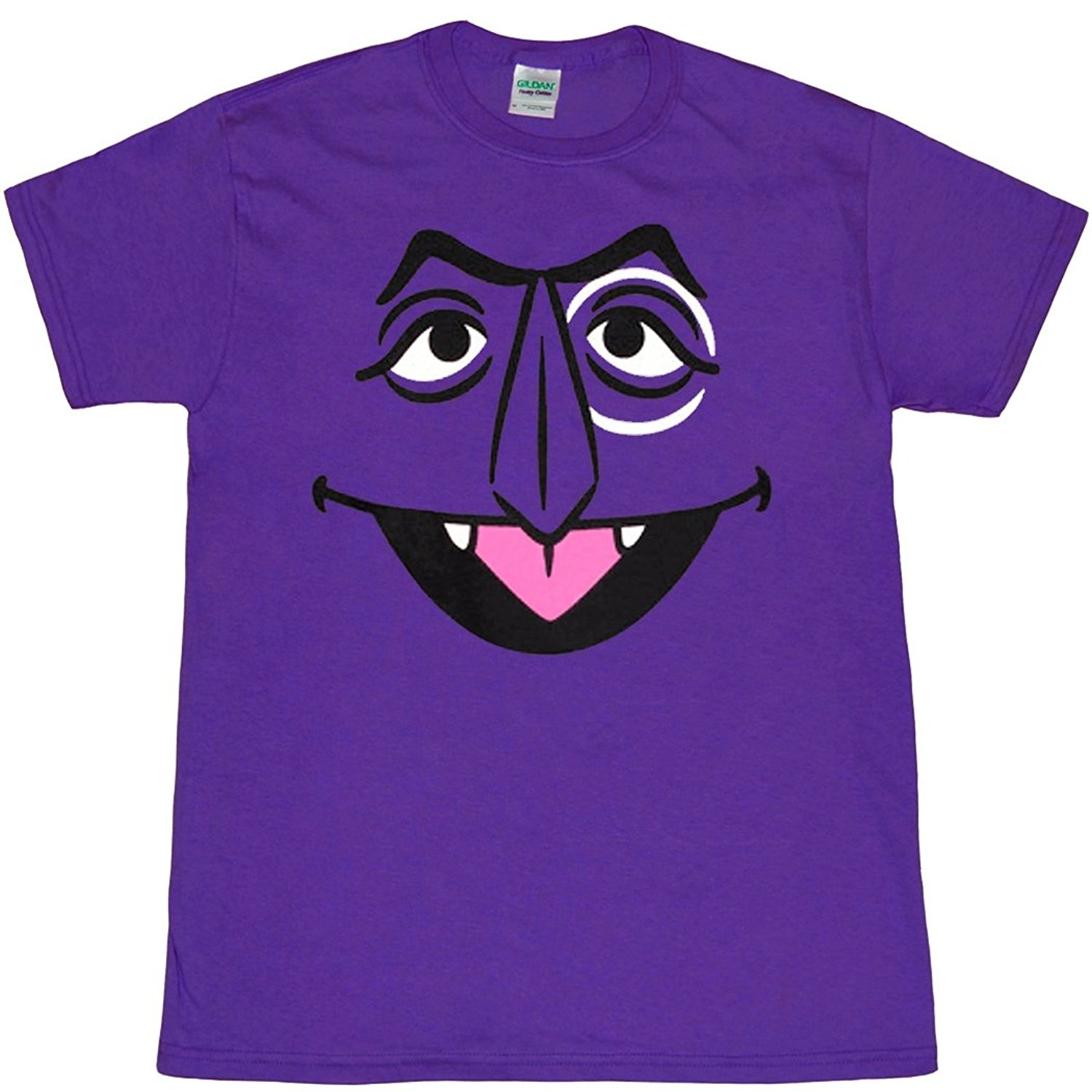 44cb368c4 Sesame Street The Count Face Adult T-Shirt T Shirt Tops Summer Cool Funny T- Shirt Different Colours High Quality 100%