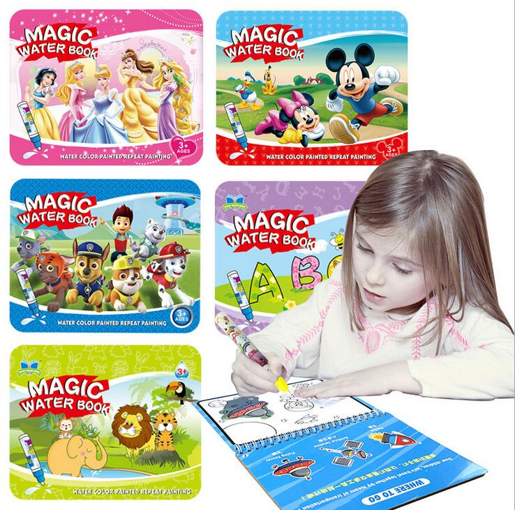 Reusable Magic Water Painting Book Magic Doodle pen Kids Coloring Doodle Drawing Board Toys Baby Educational Toy-in Drawing Toys from Toys & Hobbies
