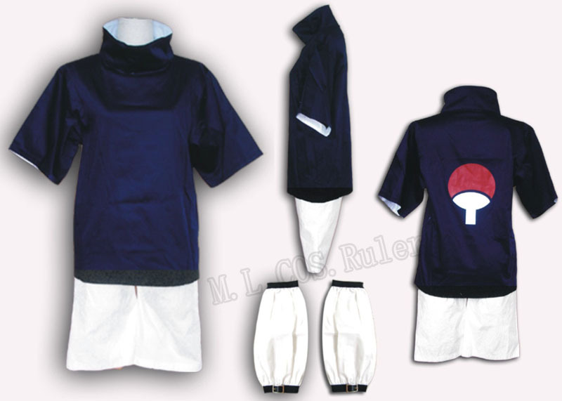 Direct Manufacturer Naruto Anime Ninja Sasuke Uchiha Cosplay Party Costume Free Shipping