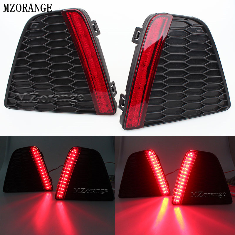 Car styling Tail Rear Bumper Lamp LED Reflector stop Brake light fog lamp For Honda Fit 2014-2015 Quality Assured Wholesale led rear bumper warning lights car brake lamp cob running light led turn light for honda civic 2016 one pair
