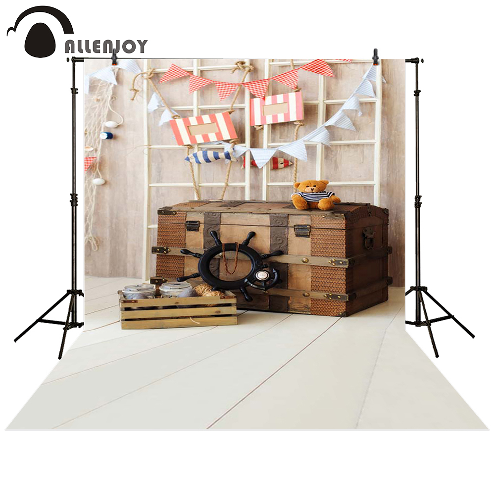 Allenjoy photography backdrop navy indoor Box dolls wood flags baby shower children background photo studio photocall allenjoy photography backdrop brick wall wooden floor white baby shower children background photo studio photocall