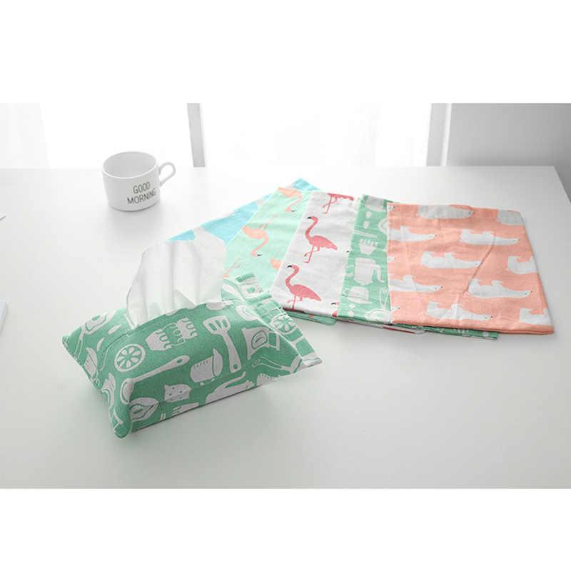 1 шт. коробка льняной ткани Фламинго медведь шаблон домашняя бумажная Обложка сумка салфетница бумажная салфетка коробки DTT88