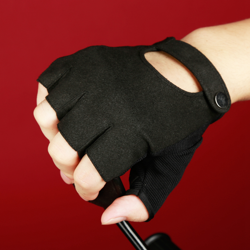 Gloves With Fingertips Out: New Mens Women Fingerless Gloves Black Half Finger Gym