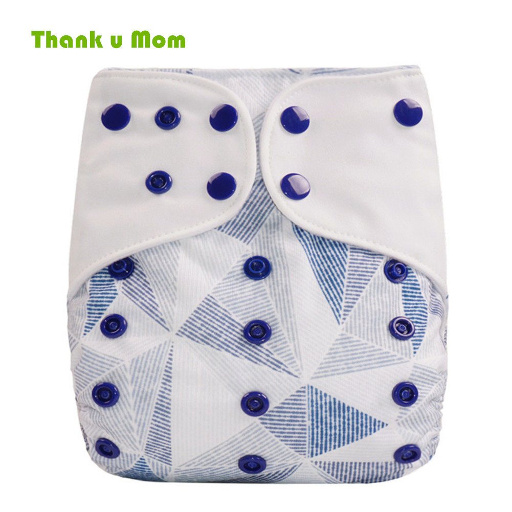 Thank U Mom Cloth Nappy One Size Fit All Baby Diapers Washable Super Cute Prints Real Pocket Cloth Diapers For 3-15KG Baby