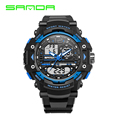 SANDA Brand 2016 New Fashion casual Wristwatch Men Sports Military Watches Shock Men Luxury Analog Quartz Led Digital Watch