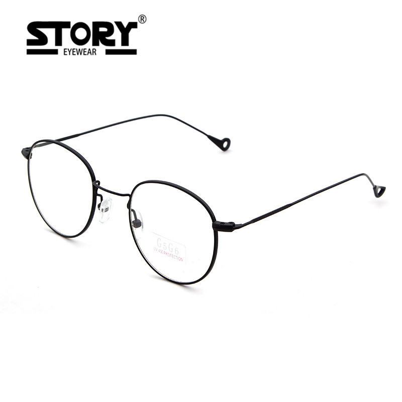 story brand metallic gold wire round frame mandarin duck feet design flat light mirror glasses aviation