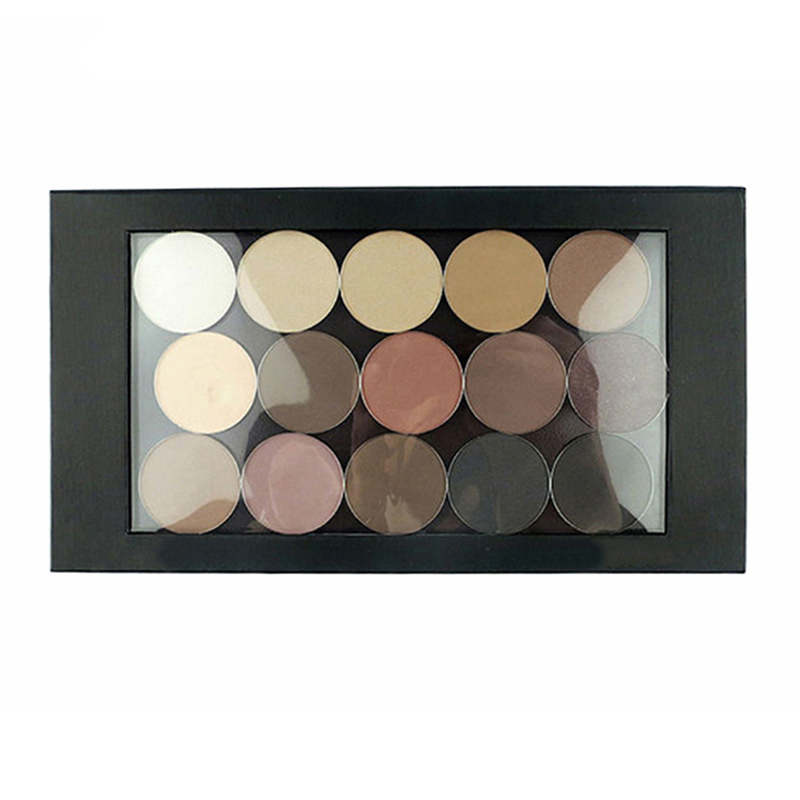 Wholesale shadow palette Free Shipping 8pcs lot Black Large Empty Magnetic Palette Eyeshadow Makeup Pallete Fill