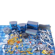 200 Pcs Aircraft  Model Kits Toy Airport Assembled Toys Simulation Airport Scene Educational Toysfor Kids airport