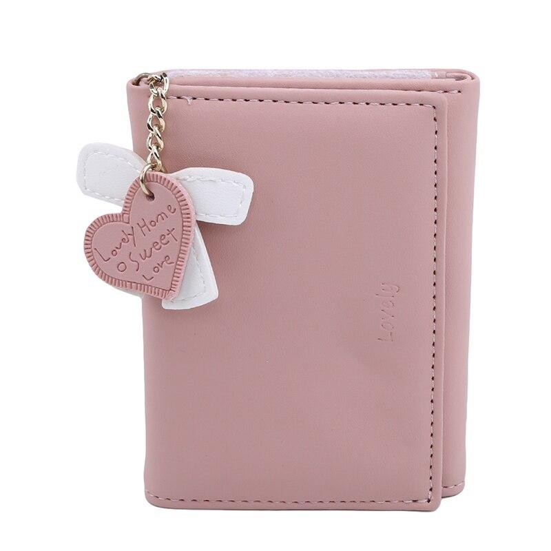 Лидер продаж Кошелек из искусственной кожи высокого качества Kawaii милый бант в форме сердца мини Кошельки для монет для женщин