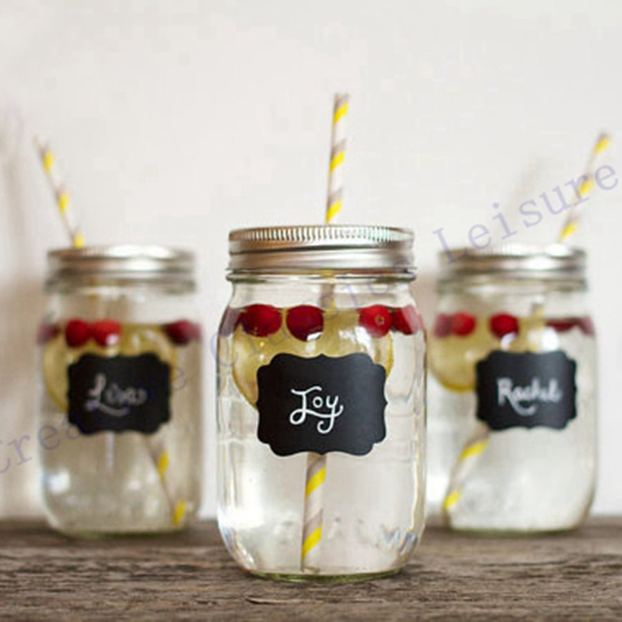 Free shipping 36pieces Fancy Mason Jar Wedding Chalkboard Labels ...