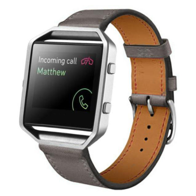 New Arrivals Luxury Genuine Leather Watch band Wrist strap For Fitbit Blaze Smart Watch High Quality Aug25 superior nylon watch band wrist strap steel metal frame for fitbit blaze smart watch dec 12