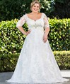Appliques Plus Size Wedding dress 2016 Dresses With Sleeves Lace Beading Bridal Gowns vestidos de novia