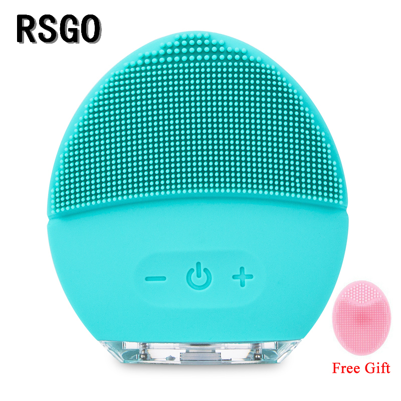 RSGO Facial Spa Massager Cleansing Anti Wrinkle Sonic Face Massage Washing Cleanser Brush Firmer Elastic Exfoloate