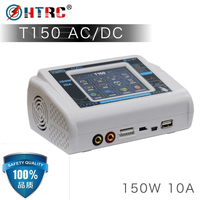 New HTRC T150 AC/DC 150W 10A Touch Screen RC Balance Smart Charger Discharger for LiPo LiHV LiFe Lilon NiCd NiMh Pb battery