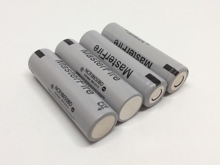 MasterFire vente en gros 100% Original 18650 batterie haute vidange NCR18650BD 3.7 V 3200 mAh batteries 10A décharge pour Panasonic, e-cigs