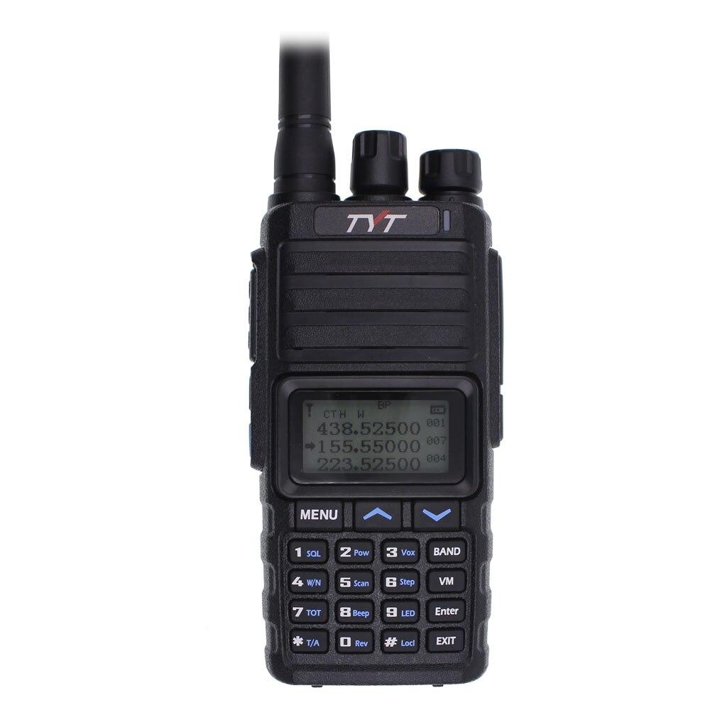 2019 New TYT TH-350 Tri-brand Tri-Standby Walkie Talkie VHF UHF 136-174 220-260MHZ 400-480 10KM Long Range HandheldTwo Way Radio
