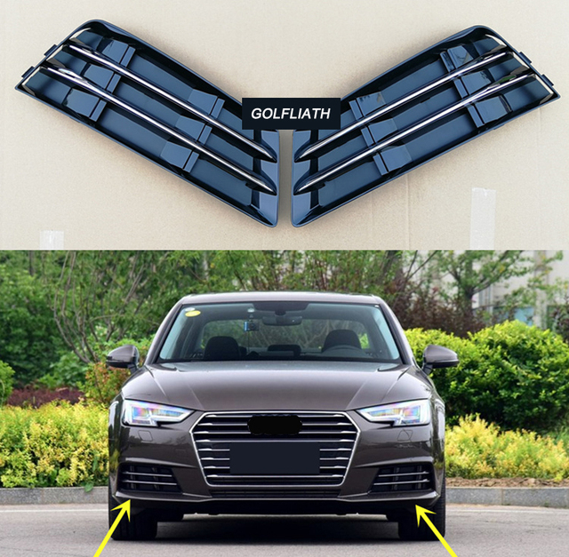 Replacement Chrome Stripe Fog Light Grill Front Bumper Side Grille