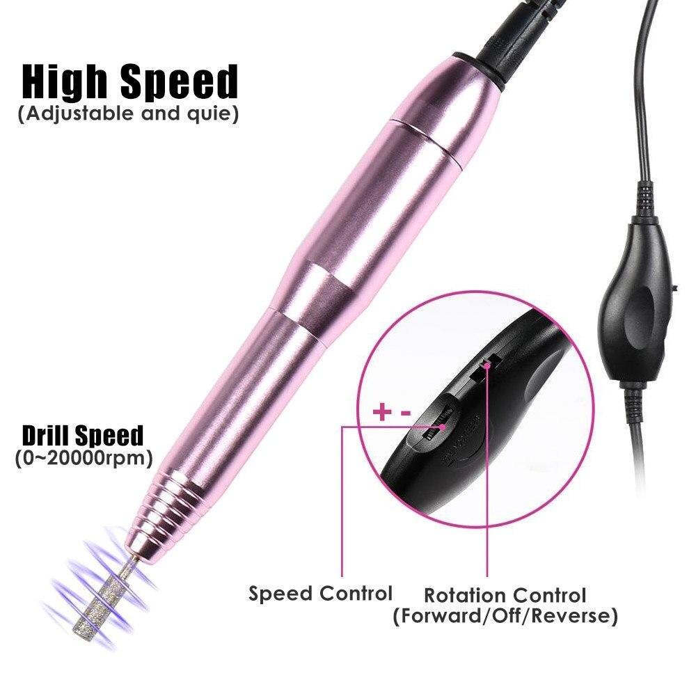 Mini Electric Nail Art Drill Set Nail File Manicure Machine Pedicure Polish Kit Handheld Nail Art Drill Machine With Drill Bits