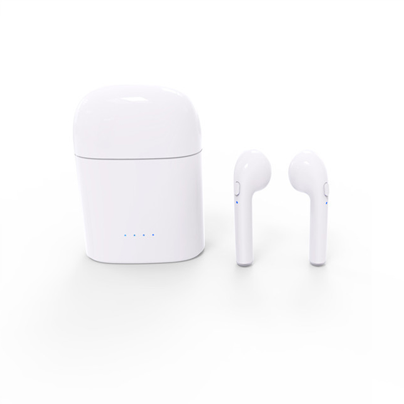 Mini TWS I7S Earbuds Ture Wireless Bluetooth Double Earphones Twins Earpieces Stereo Music Headset For Apple iPhone 6 7 8 Plus dacom bluetooth earphone mini wireless stereo headset tws ture wireless earbuds charging box for iphone xiaomi android phone