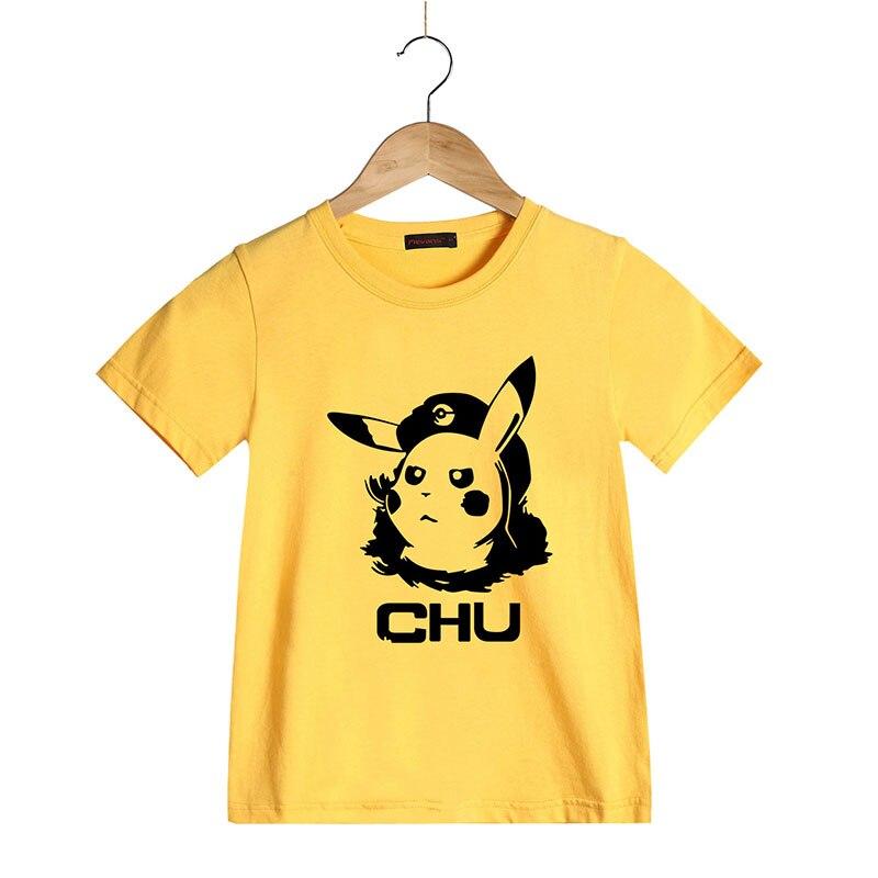 Fashion New Design T Shirt for kids Cute Child Pikachu T shirt Short ...