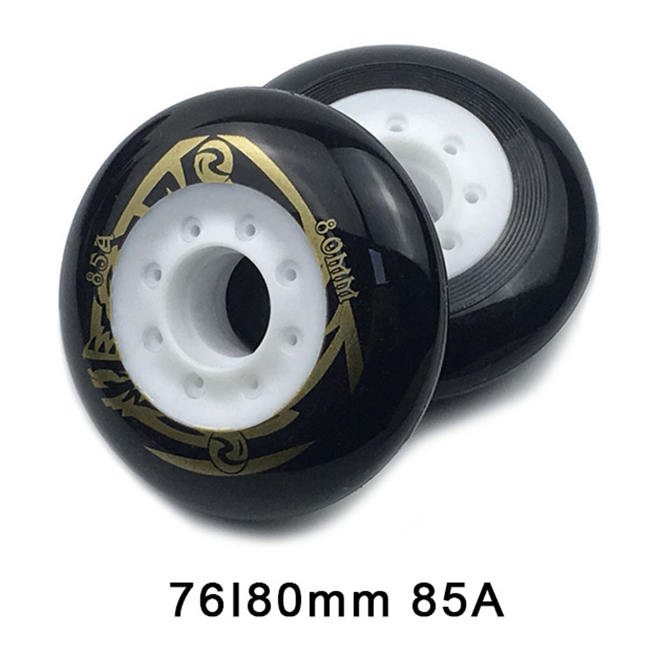 80 76mm 85A Rollers for Inline Skates Slide Slalom Skates Wheels For Kids Adult Good as Powerslide Seba Patins Roller Wheel LZ25-in Scooter Parts & Accessories from Sports & Entertainment