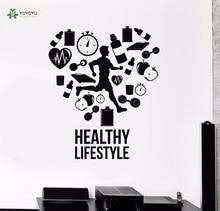 YOYOYU Wall Decal Vinyl Decoration Healthy Lifestyle Run Runner Home Decor Sticker Gym Cardio Sport Poster Removeable YO264