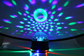 Mini LED Color Changes RGB Sound Actived Lamp 15W 2 in 1 Mini Rotating Magic Disco Ball Light for Stage Party