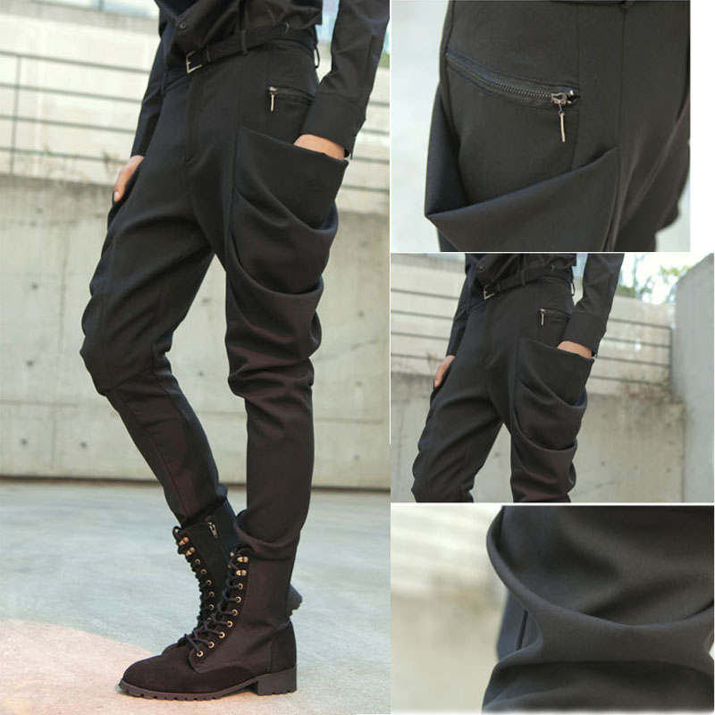 2018 Big yards mens trousers M-5XL Harem pants male the trend slim boot cut jeans non-mainstream mens clothing trousers