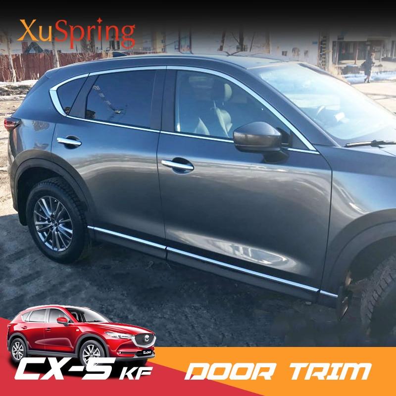 Car Window Trim For Mazda CX 5 CX5 2017 2018 2019 KF Chrome Strips Outer Decoration