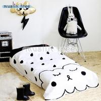 130cm90cm Baby Blanket Bedding Kid Quilt Baby Cotton Comforter Muslin Tree White Black Angel Style