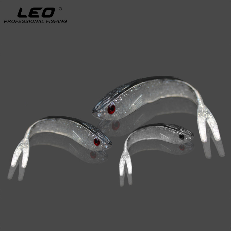 10Pcs High Simulation Gray Minnow Fish Soft Bait Artificial Fishing Lure Rubber Silicone Bait Fishing Accessories S M L goture fishing lure silicone bonic soft bait 10 7g 8 4cm wobblers artificial bait red tail lead fish 5pcs lot