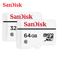 SanDisk Memory Card High Endurance Video Monitoring MicroSD C10 Card SDHC/SDXC Class10 20MB/s 32GB 64GB TF Card for Recorder