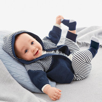 2pc/Set Newborn Baby Boys Clothing Set Casual Kids Sport Suit Infant Toddler Boy Clothes Top Coat + Romper Jumpsuit Outwear Sets