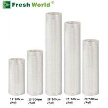 Vacuum Sealing Machine Bags For Food 12+15+20+25+28*500cm including 5pcs Vacuum Packaging Rolls