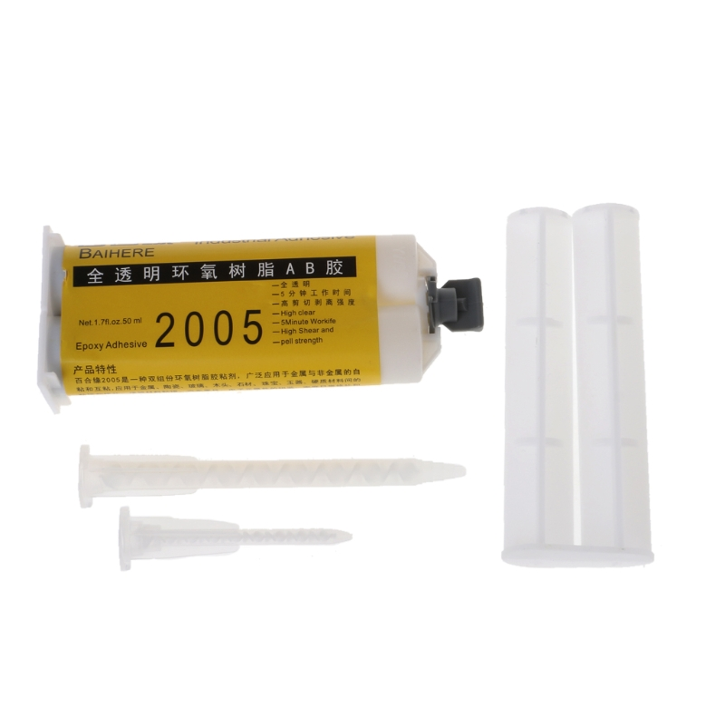 Epoxy Resign Liquid Glue AB  Adhesive Super Strong Fabric Repair Tool Glass