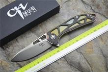 CH3509 Folding knife D2 blade ceramic ball bearing washer TC4& CF handle outdoor camping hunting pocket knife EDC tools