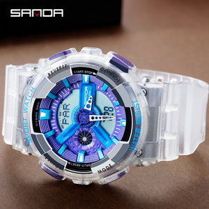 Image 5 - SANDA New Fashion Casual Sports Digital Couple Watch Waterproof LED Wristwatches For Men Women Lovers Watches Relogio Masculino