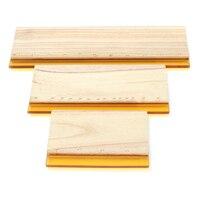 3pcs Lot Silk Screen Printing Squeegee Board Mayitr Wearproof Wood Rubber Ink Scraper Blade Scratch Board