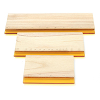 3pcs Lot Silk Screen Printing Squeegee Board Mayitr Wearproof Wood Rubber Ink Scraper Blade Scratch Board