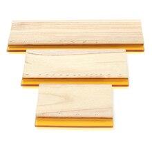 цены на 3pcs/lot Silk Screen Printing Squeegee Board Mayitr Wearproof Wood Rubber Ink Scraper Blade Scratch Board Tools 16cm 24cm 33cm  в интернет-магазинах