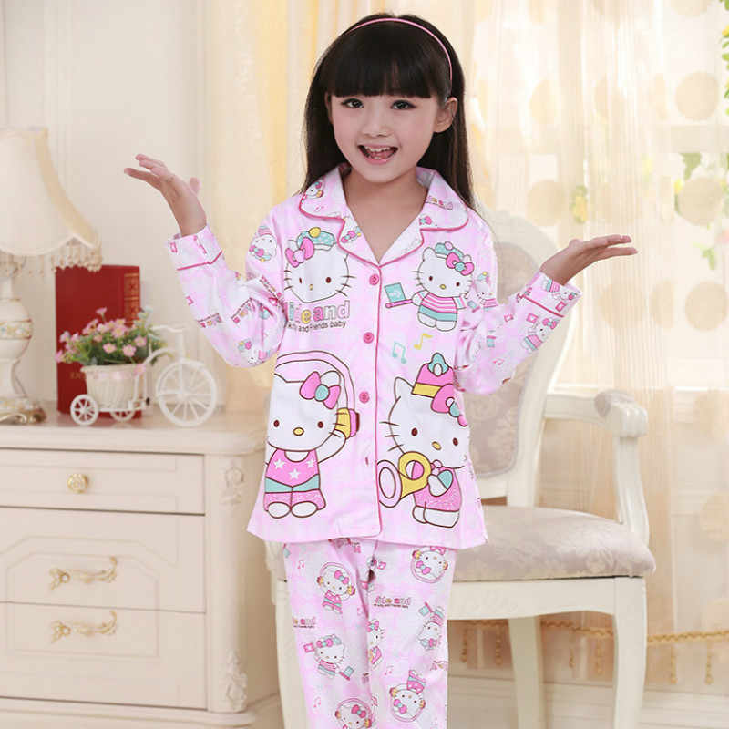 bd4700f0e408 ... Pajamas For Girls 2Pcs set Children Pyjamas Autumn Pjs Long Sleeve  Cartoon Kids Boys Sleepwear ...