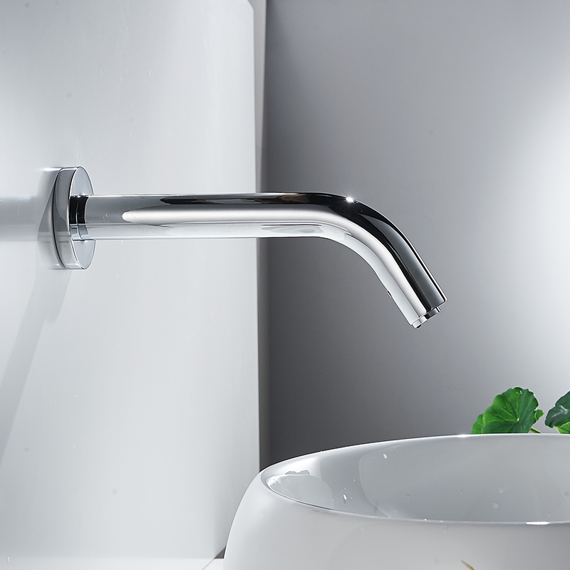 Automatic Touch Sensor Single cold Wall Mounted Bathroom Faucet ...