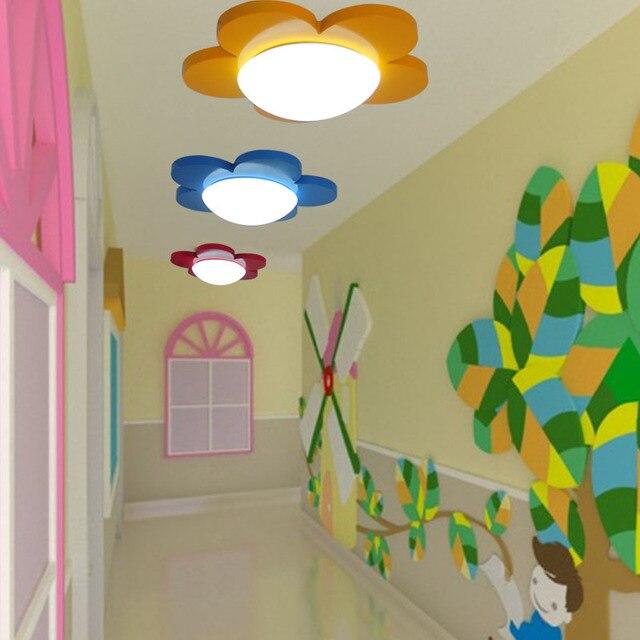 Kinderzimmer Blumen Led Deckenleuchte Rot Und Gelb Blau Schonen