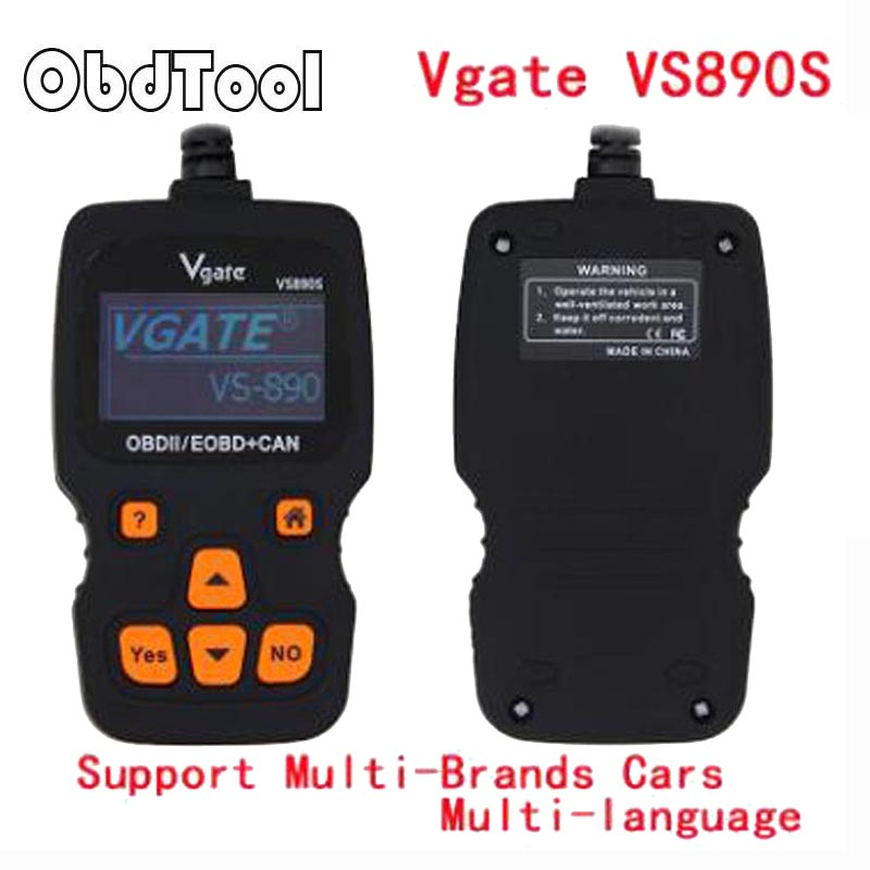 13 Language Optional ObdTool VS890 OBD II Scanner VS890S OBDII / EOBD CAN Auto DTCS Code Reader ...