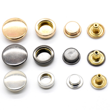 100set brass snap fasteners.Clothing accessories Sewing snaps tools Environmentally Invisible high quality jacket buttons