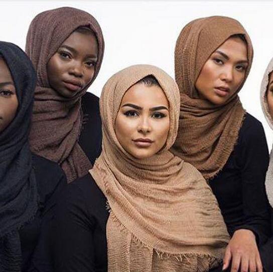 100*190cm Bubble Plain Scarf/cotton Scarf Fringes Women Soft Solid Hijab Popular Muffler Shawls Big Pashmina Wrap Hijab Scarves