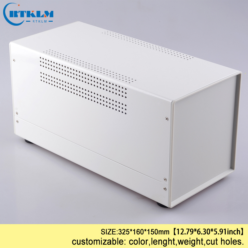 Iron electronic instrument case diy electrical project box industry box housing panel enclosure 325*160*150mm PCB diy design BOX